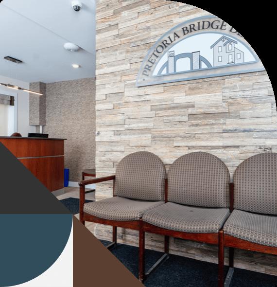The comfortable waiting room at Pretoria Bridge Dental