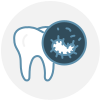 Oral hygiene cleaning icon