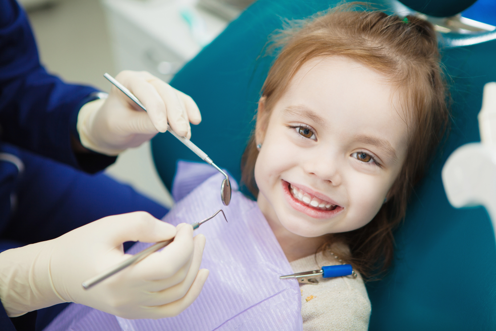 child at dentist office