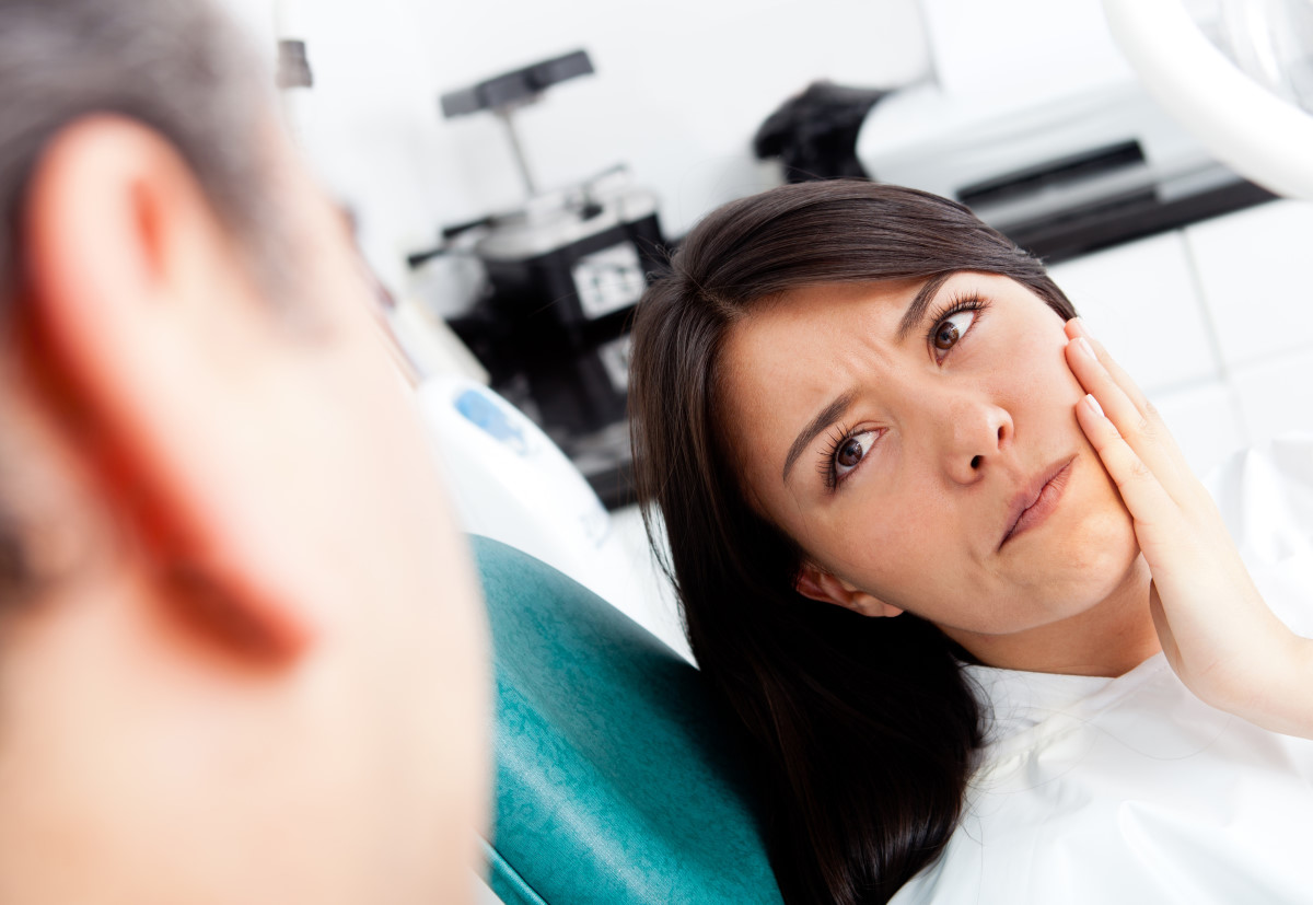dental patient with toothache at dental clinic